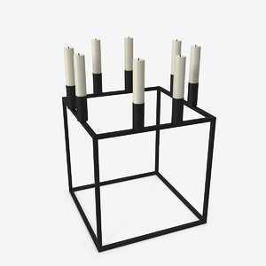 3D cubical candlestick big