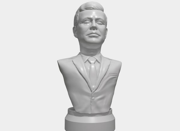printable portrait jfk model
