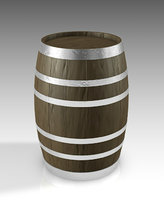 barrel wood bar model