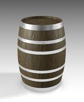 barrel wood bar model