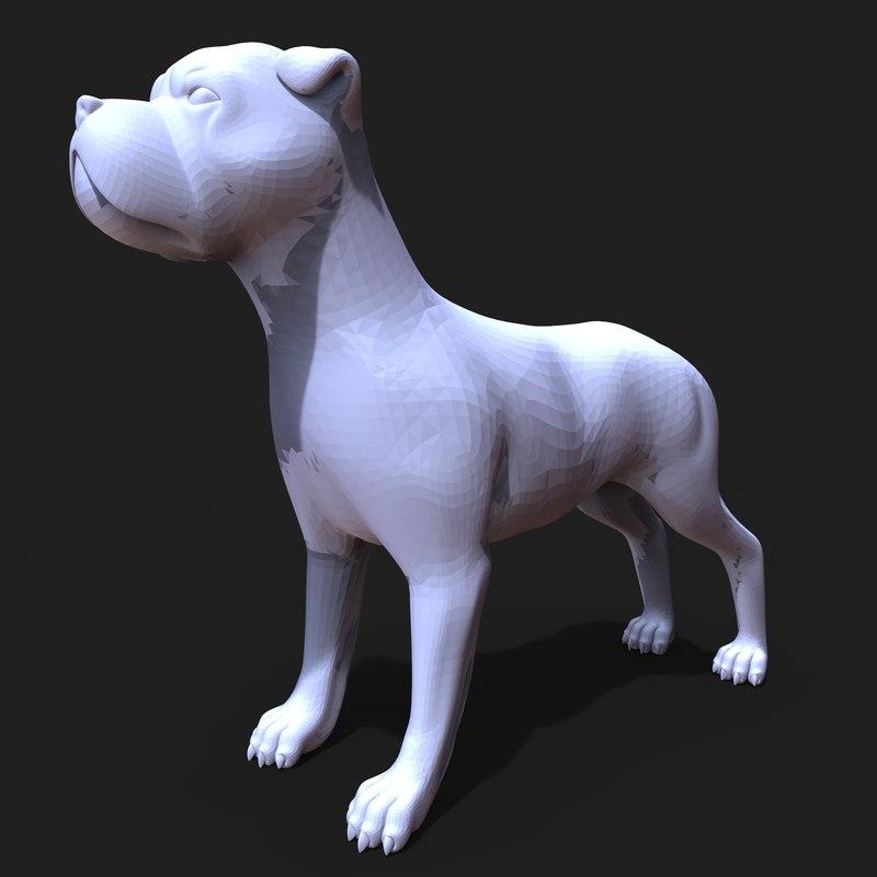 boxer dog 3D