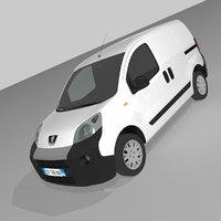 3D peugeot van model
