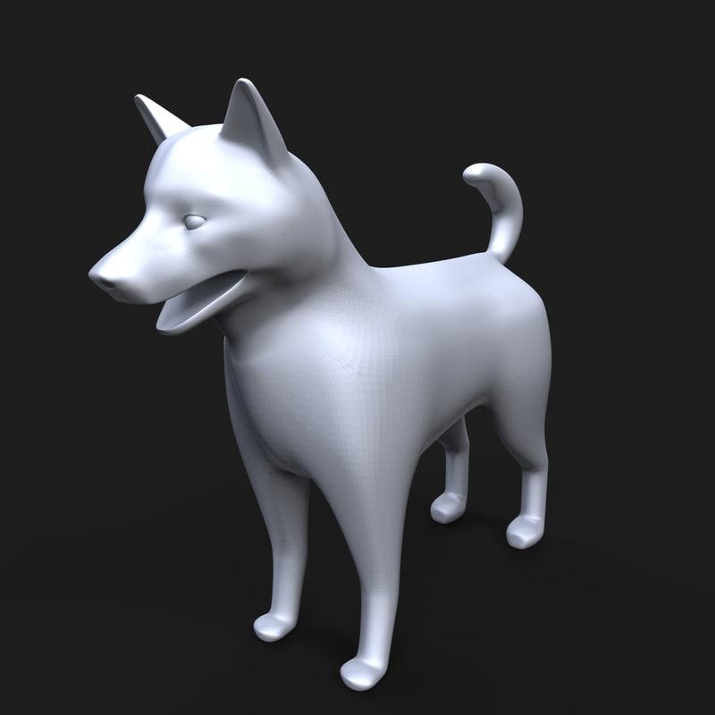 norwegian elkhound dog model