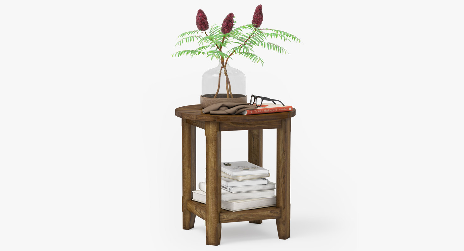 pottery barn benchwright table 3D model