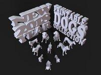 new year 2018 dog 3D model