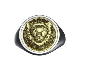 lion head ring 3D model