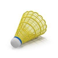 3D yellow shuttlecock model