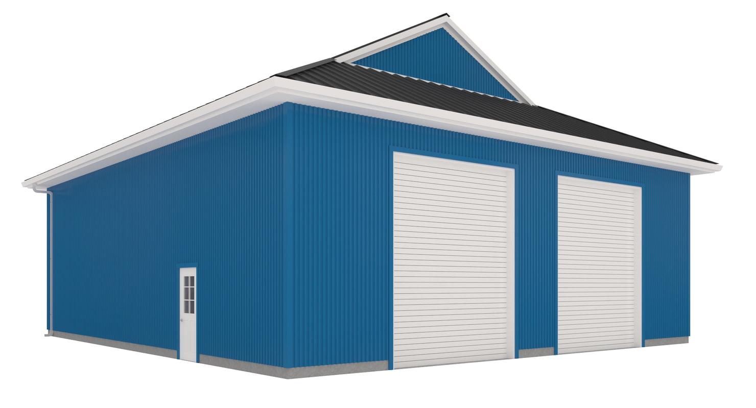 garage corrugated metal model
