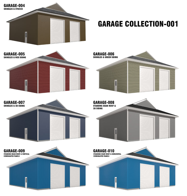 3D garages residential commercial