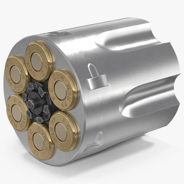 revolver cylinder stainless steel 3D model