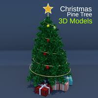 3D christmas pine tree