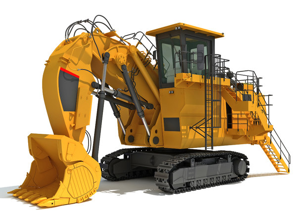 3D model tracked mining excavator