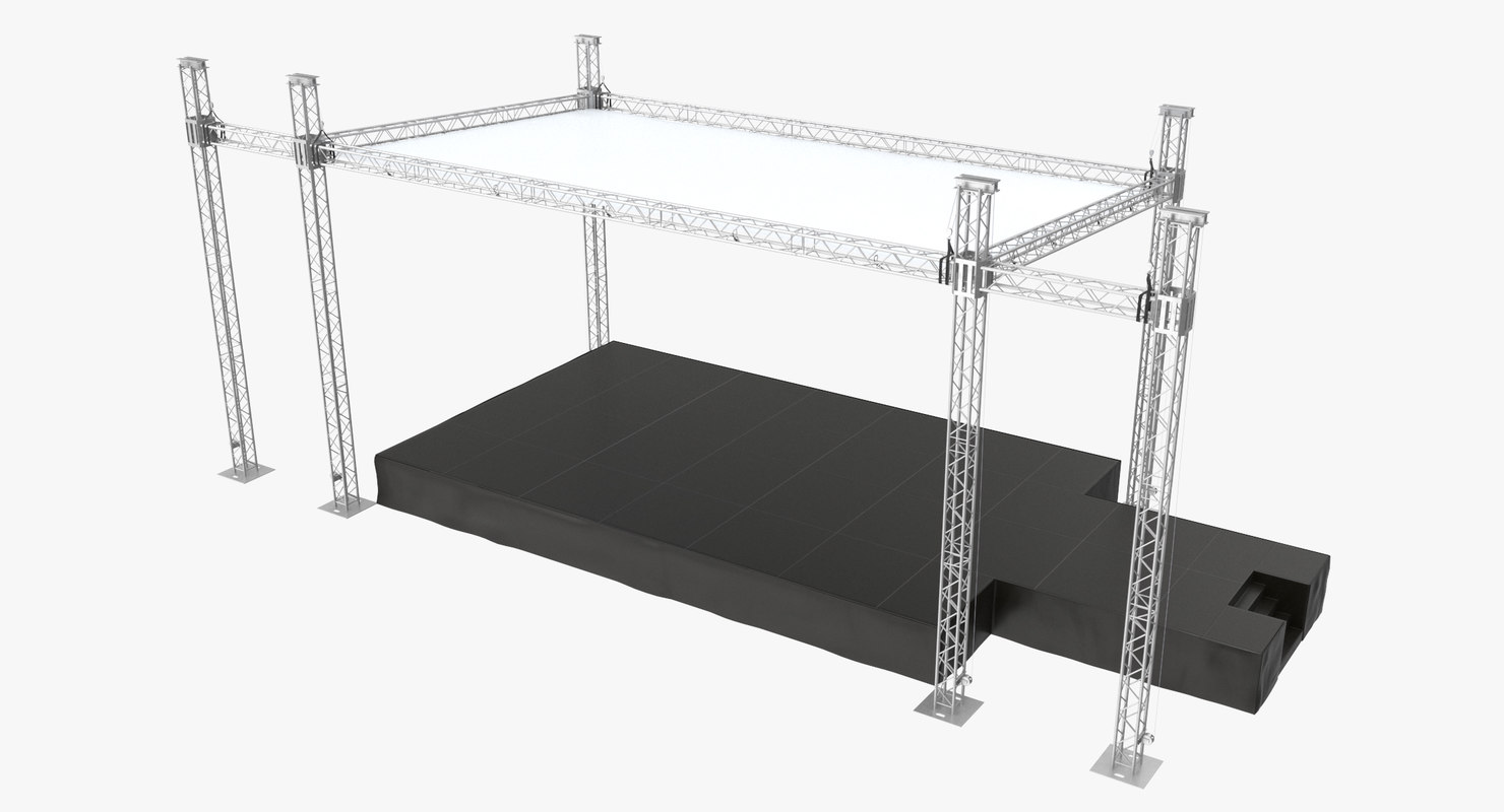 outdoor concert stage large 3D model