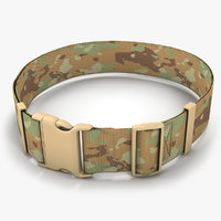 army belt camouflage 3D model