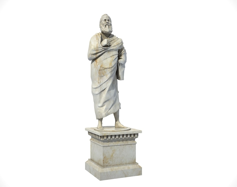 ancient greek statue man 3D model