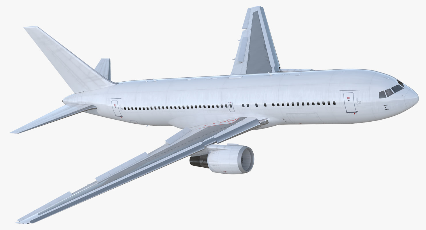 3D boeing 767-200 generic rigged