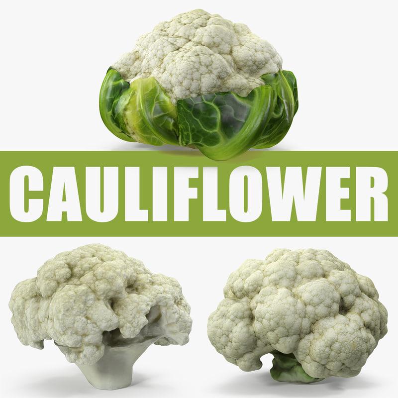 cauliflower fresh cabbage 3D