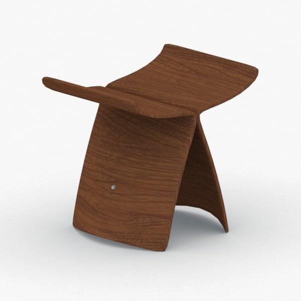3D interior - modern chair stool