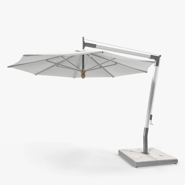 offset patio umbrella 3D model