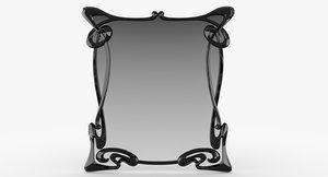 3D art deco mirror