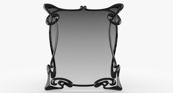 3D art deco mirror