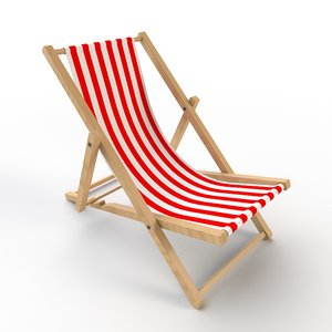 3D beach chair deck model