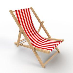 3D beach chair deck model