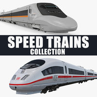 Speed Trains 3D Models Collection