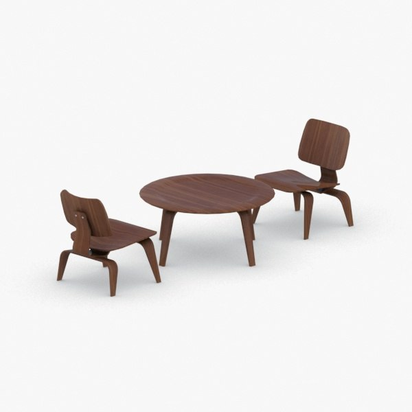 3D interior - sets modern chair