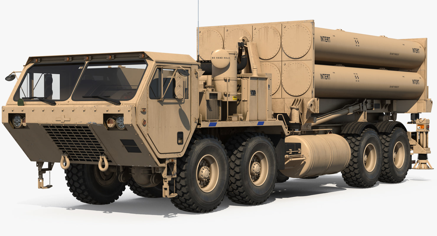 3D model mobile anti ballistic missile