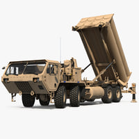 US Mobile Anti Ballistic Missile System THAAD Rigged