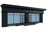 classic building facade 3D