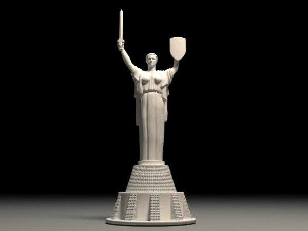 3D model kyiv monument