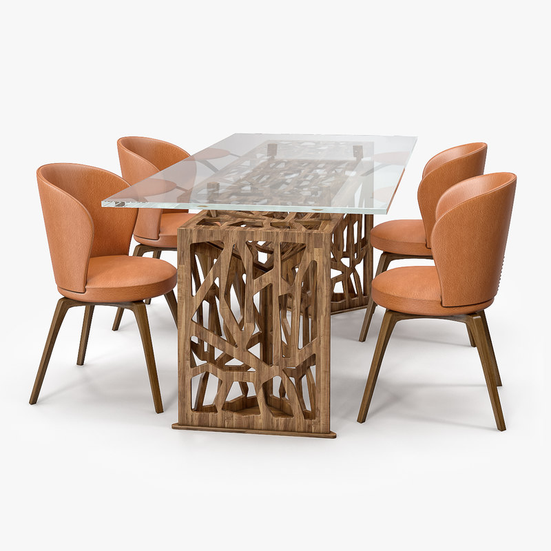 3D model mascheroni delta table alloro