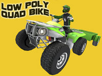 Low Poly Quad Bike With Player & Trailer 6