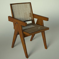 3D pierre jeanneret office cane