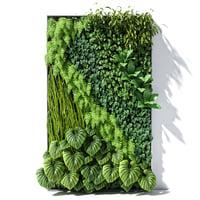 3D vertical garden 02 model