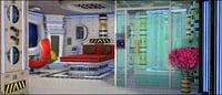 3D room sci-fi