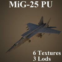 3D mikoyan training aircraft model