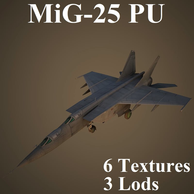 3D mikoyan training aircraft model