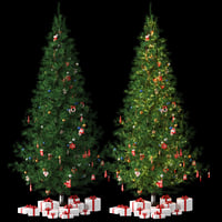 christmas tree gifts toys 3D model