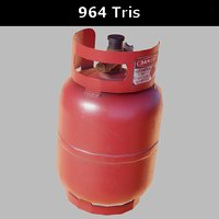 Gas cylinder small PBR Game-Ready