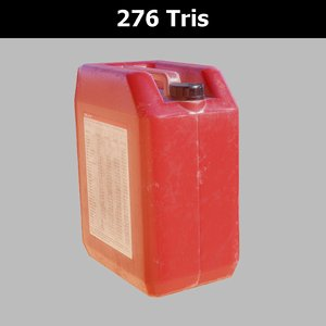 3D plastic canister pbr model