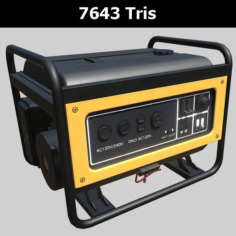 3D model power diesel generator pbr