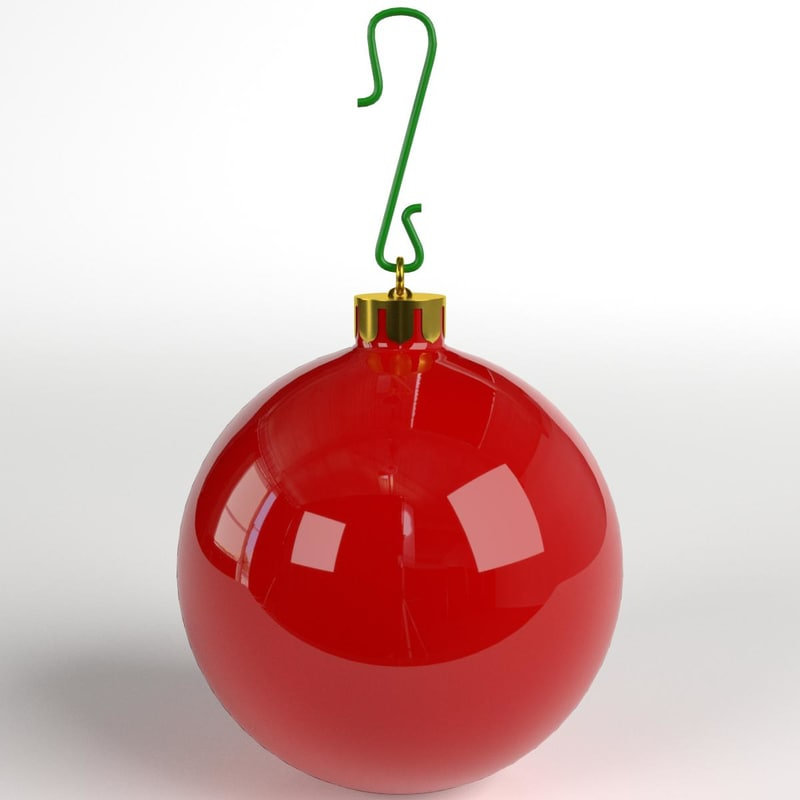 3D christmas ball glossy