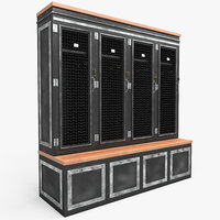 metal lockers 3D model