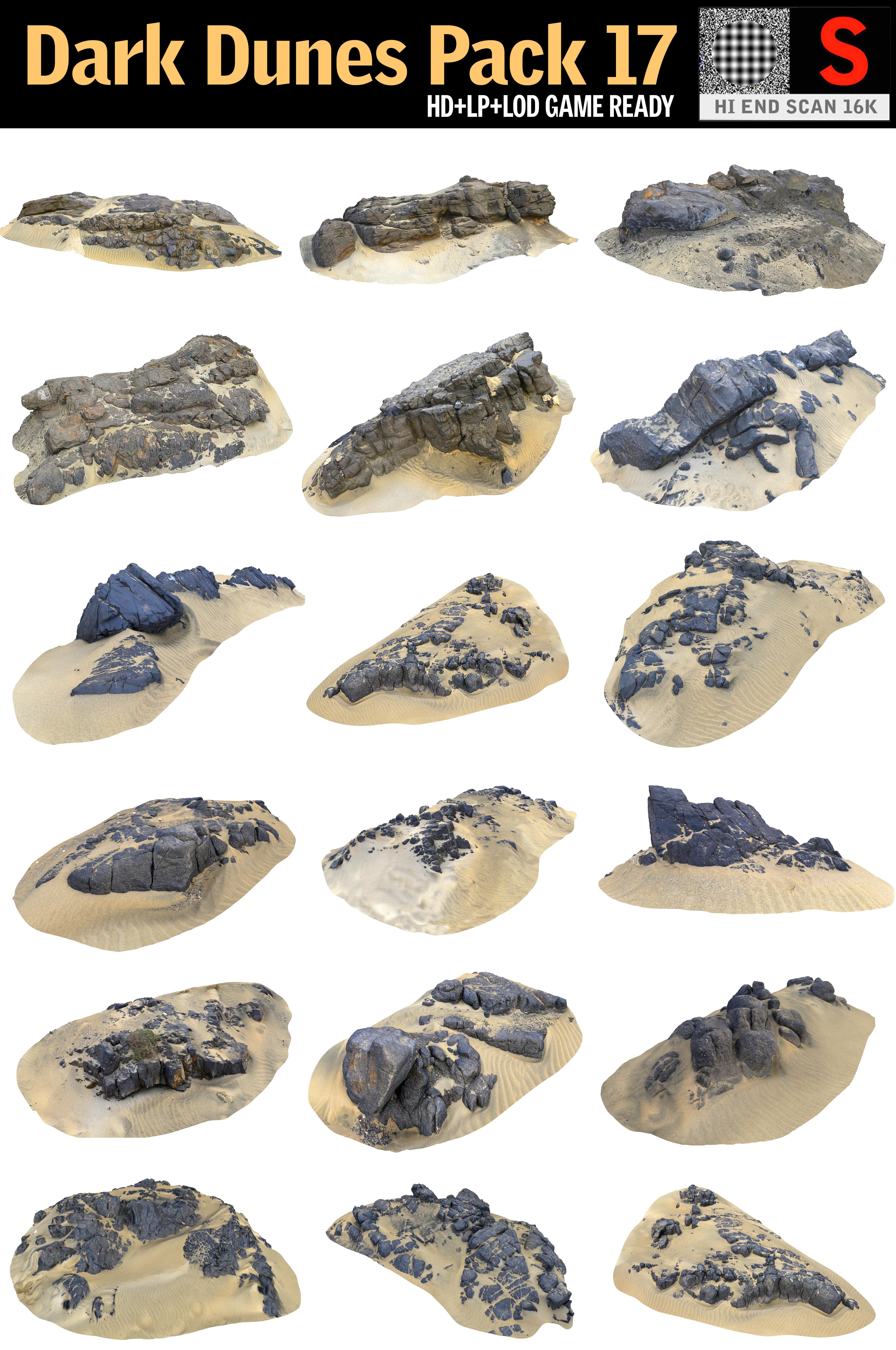 dark dunes pack 17 3D model
