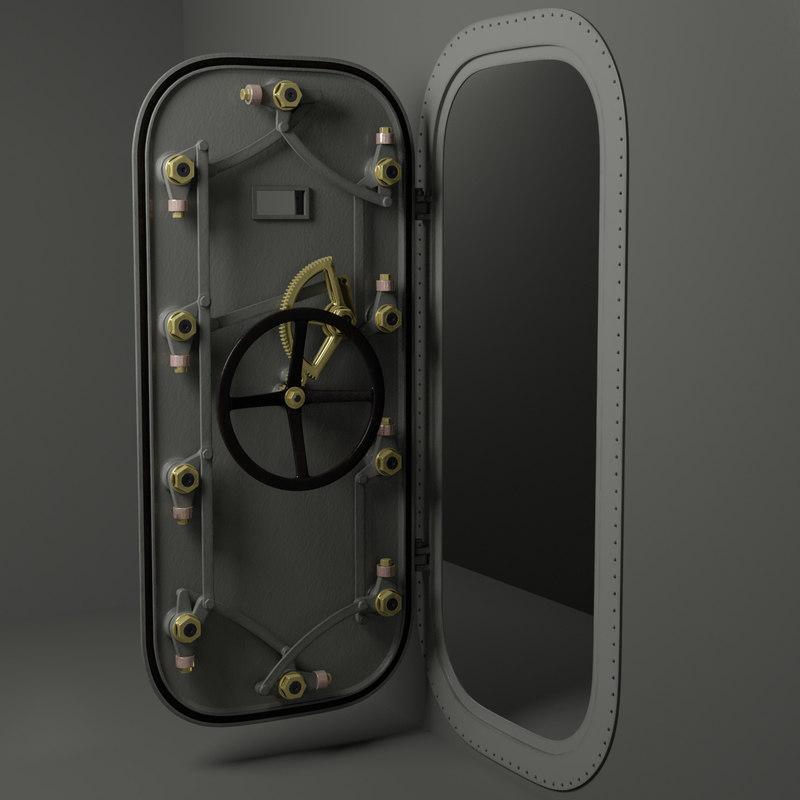 3D hatch door model