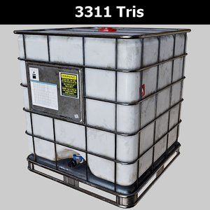 3D caged water tank pbr