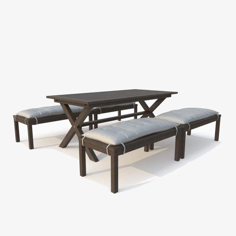 indio dining table 3D model